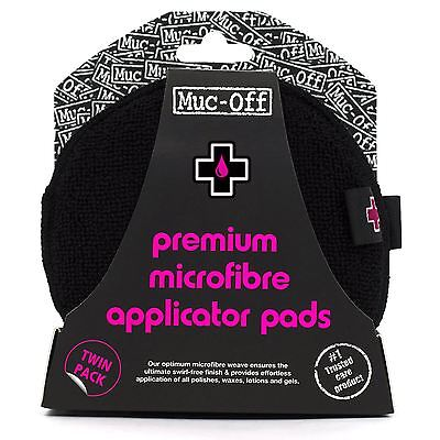 Muc-Off Motorcycle Bike Polish Microfibre Application Twin Pack Cleaning Pads