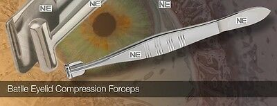 S.S Meibomian Meibum Batlle B Eyelid Compression Forceps Aggressive Expression