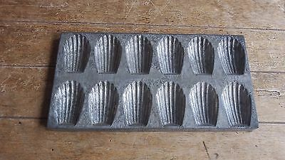 Antique French Vintage Rustic Madeleine Tray Moulds C 1930's