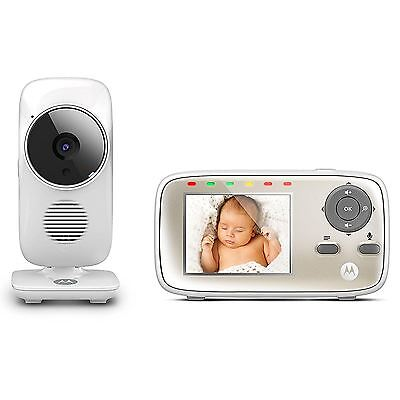 "Motorola MBP483 Digital Video Baby Monitor 2.8"" Display + Talk Back & Lullabies"
