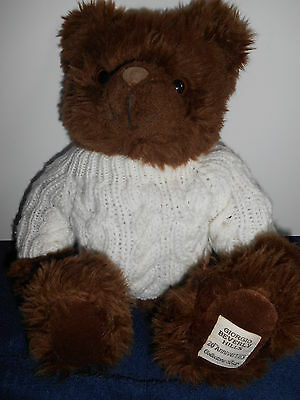 peluche doudou ours giorgio beverly hills collection bear pull laine blanc
