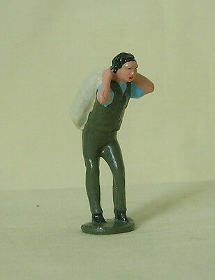 Miller's labourer carrying flour sack, Reproduction Johillco 1:32 train figure