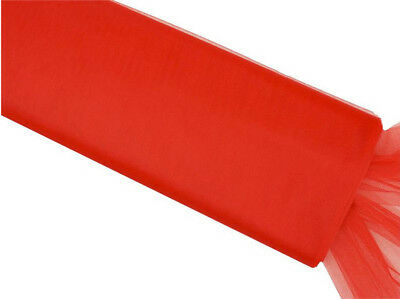 Wedding & Event Fabric - Tulle Bolt - Red 54inch x 40yd (137cm x 36.5m)