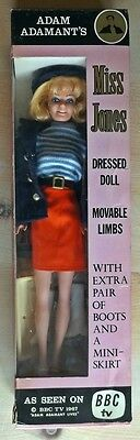 ADAM ADAMANT Miss Jones Doll 1967 Laurie Toys not Fairylite SUPERB BOXED BBC TV