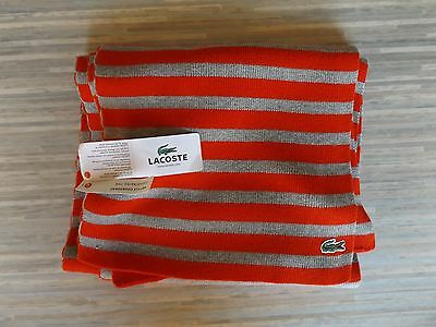 Men's Lacoste Rouge/Brume/Chine Scarf BNWT