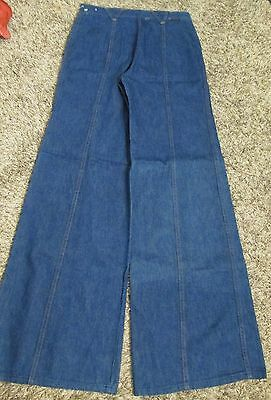HIGH WAIST Womens WRANGLER Vtg 70s HIPPIE Denim BIG BELL BOTTOM Denim JEANS Boho