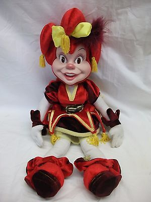 Kitsch Rubber Face Toy Doll ~ Girl Jester ~ Efteling ~ Pardoes Holland
