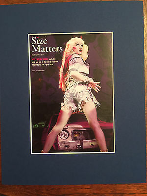 Hedwig and the Angry Inch musical 2014 ad/flyer matted Neil Patrick Harris blue