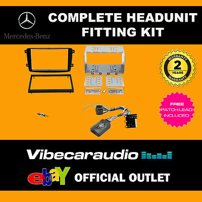 Connects2 CTKMB03 Mercedes C Class W204 2007> Double Din Radio Installation Kit