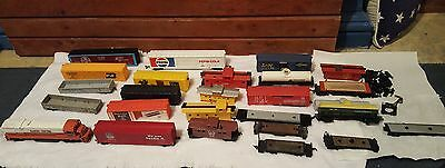lot junk or for repair train cars HO scale engine does not run needs repair