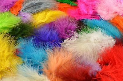 50 Marabou Feathers For Crafting, Costumes, Sewing, Floral - Choice Of Colours