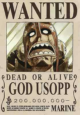 Poster A3 One Piece God Usopp Sogeking Recompensa Wanted Cartel Se Busca