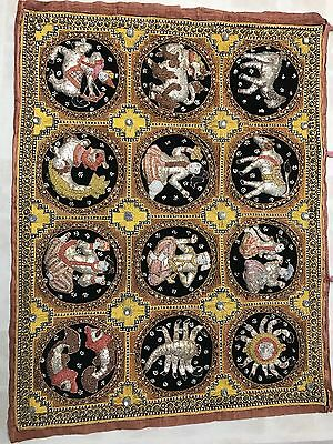 Thai Kalaga Tapestry Astrological Horoscope Hand Woven.