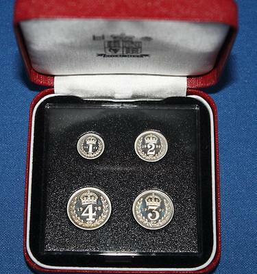 UNCIRCULATED 1998 ELIZABETH II MAUNDY SET IN ORIGINAL VIP CASE.  4d, 3d, 2d & 1d