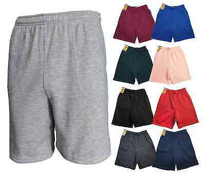 Basic Athletic Fleece Shorts Workout Gym Sport Soft Sweat Short Comfy S-5XL