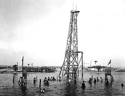 "1905 Diving Tower, Venice California Vintage Old Photo 8.5"" x 11"""