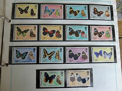 BELIZE 1974 Butterflies stamps 14 set mint never hinged SG380-96