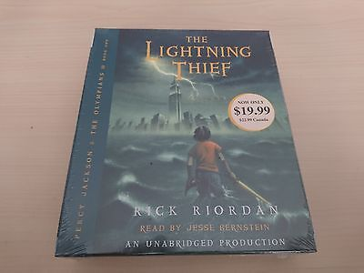 Percy Jackson The Lightning Thief Rick Riordan Complete Unabridged Cd Audiobook