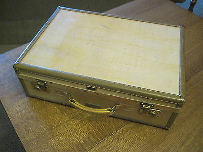 "Vintage Hartman Luggage 1940/50's Overnight Case -20"" x 14"" x 6""- Clean Interior"