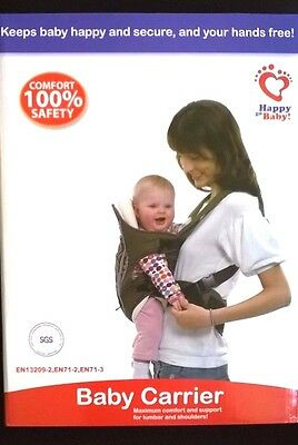 Baby infant Front Back Carrier lumbar  support Comfort Rain Cold Cover NIB