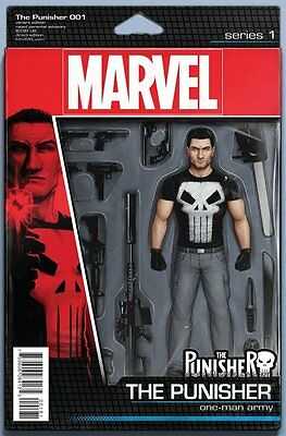 PUNISHER ISSUE 1 - MARVEL COMICS - FIRST 1st PRINT ACTION FIGURE VARIANT COVER!