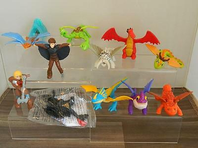 McDonalds Happy Meal Toys Lot/Set - How To Train Your Dragon 2 Figures x11