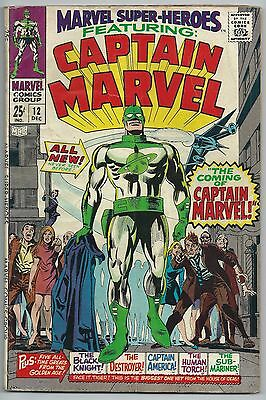 **marvel Super-Heroes #12**(Dec 1967, Marvel)**1St App Of Captain Marvel)**gd-**