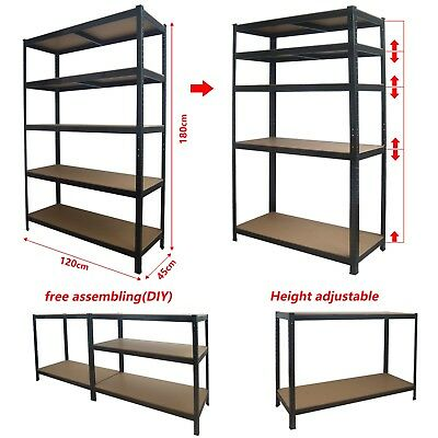 MCC® Racking Shelving Heavy Duty MDF Shelves Garage Shed Storage 180 x120x 45cm