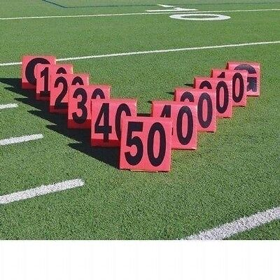Pro Down Day or Night Sideline Markers Football 11 Piece Set