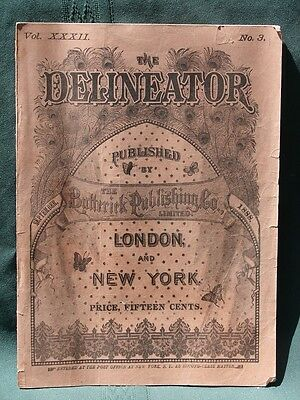 The Delineator orig 1888 Butterick Co Clothing Sewing Pattern Catalog Magazine