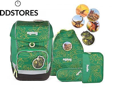 ERGOBAG Bearasaurus Set de sacs scolaires, 40 cm, 19 liters, Vert Green Jungle