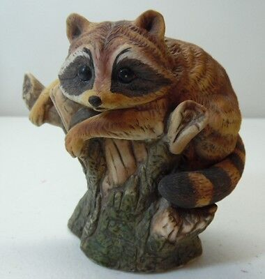 Enesco Raccoon Textured Coat Porcelain Figure E9025