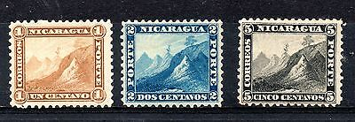 Nicaragua (1352) 1862  Volcanoes  3 from set Lightly mounted mint Sg 13-4, 14