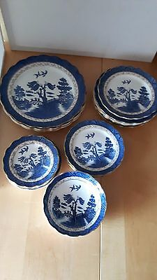 Booths Real Old Willow Pattern A8025 Plates Bowls