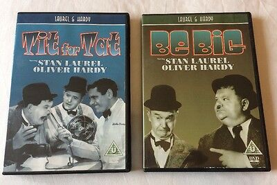 2x Laurel & Hardy Movies DVD Bundle : Tit for Tat + Be Big  **FREE UK DELIVERY**