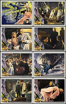FRANKENSTEIN MEETS THE WOLF MAN Complete Set Of 8 Individual 11x14 LC prints '43