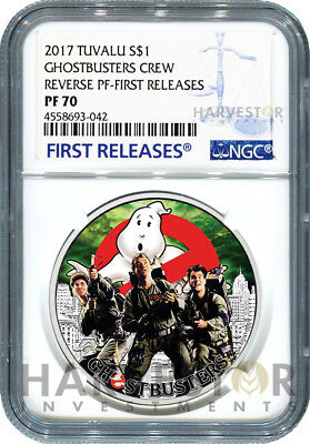 2017 Ghostbusters Coin Series - Crew - Ngc Pf70 First Releases - 1St In Series