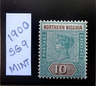 Northern Nigeria 1900 SG 9, 10s Shilling Green & Brown, Fine Mint, Cat £325+