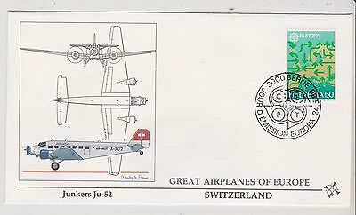 Switzerland  - FDC's - Great Airplanes of Europe - Europa 1988  (G61) (X)
