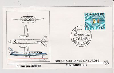 Luxembourg  - FDC's - Great Airplanes of Europe - Europa 1988  (G79) (X)
