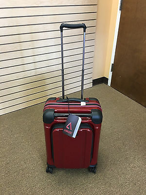 """ANDIAMO Pantera Lava Red 20"""" Hard Side Spinner Luggage Carry On"""