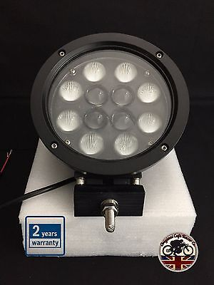 "Land Rover Defender LED CREE 5100 Lumens 60W 7"" x 1 Roof Spot Light Black"