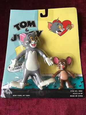 Vintage 1989 Tom and Jerry Bendable Figures
