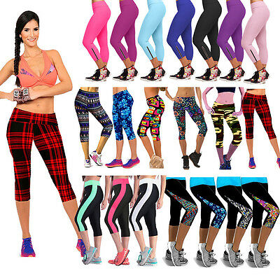 Women Yoga Compression Base Layer Sports Pants Tight Leggings Fitness Trousers