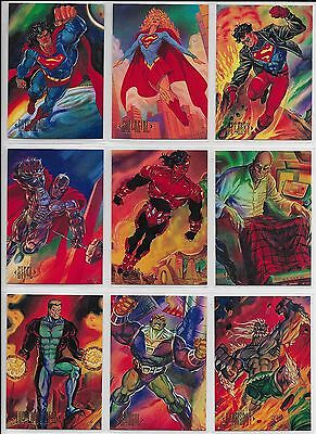 1994 Skybox DC COMICS MASTER SERIES Complete 90 Card BASE SET + 2 Wrappers Flash