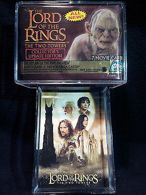 Lord of the Rings THE TWO TOWERS COLLECTOR'S UPDATE ED. Complete SET + Wrapper