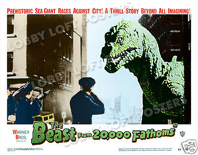 The Beast From 20,000 Fathoms Lobby Scene Card # 9 Poster 1953 Rhedosaurus