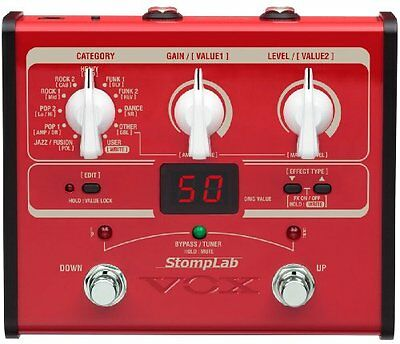 VOX STOMPLAB1B Red Modeling Guitar Multi-Effects Pedal Stomp Box Japan #Tracking