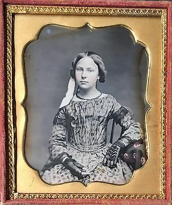 Gorgeous Young Teenage Girl Lace Gloves Dress Hair Ribbon 1/6 Daguerreotype D456