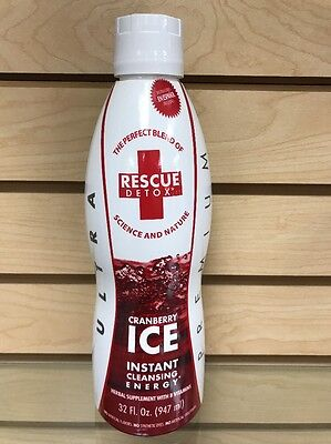 """Rescue Detox Instant Cleansing """"cranberry"""" 32 Fl. Oz. Clean Out Free Shipping"""